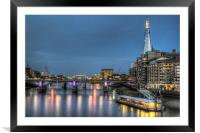 The Shard and Tower Bridge, Framed Mounted Print