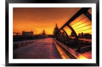 St pauls Sunset, Framed Mounted Print