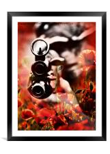 an unknown warrior, Framed Mounted Print