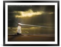 Talacre glory days, Framed Mounted Print