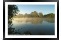 Mist on the water, Framed Mounted Print