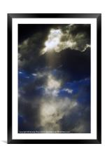 Rays through storm clouds, Framed Mounted Print
