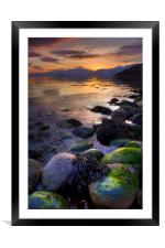 Sunset On Loch Linnhe, Scotland, Framed Mounted Print