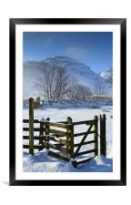 Pike Of Blisco In Winter, Framed Mounted Print