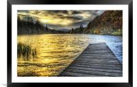 Loch Ard Sunset at the Jetty, Framed Mounted Print