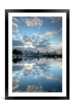 Mirrored Clouds, Framed Mounted Print