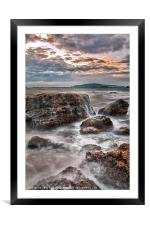 Rocks of the Nothe, Framed Mounted Print