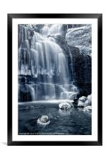 Ice Rocks at Scaleber Force Falls, Framed Mounted Print