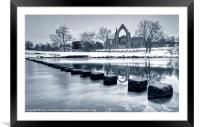 Bolton Abbey Reflections, Framed Mounted Print