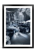The Falls at Scaleber Force, Framed Mounted Print