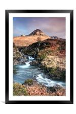 Skyes Fairy Pools, Framed Mounted Print