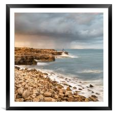 Sunset Storms at Portland Bill, Framed Mounted Print