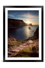 First Light at Man oWar Bay, Framed Mounted Print