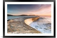 Sunkissed Cobb at Lyme Regis, Framed Mounted Print