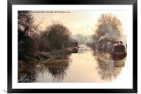 Winter Clayworth Morning, Framed Mounted Print