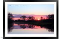 A Moment of Sunrise, Framed Mounted Print