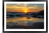 Sunset on Whipsiderry Beach, Framed Mounted Print