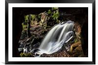 Caves at Lumsdale, Framed Mounted Print