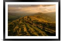 Great Ridge, Framed Mounted Print