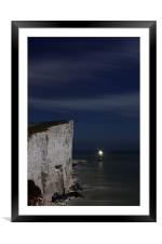 Midnight At Beachy Head, Framed Mounted Print