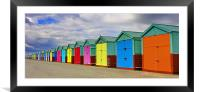 Hove Beach Huts, Framed Mounted Print