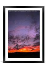 Sunset over Georgia, Framed Mounted Print