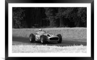 Stirling Moss and Mercedes, Framed Mounted Print