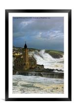 Stormy summer, Framed Mounted Print