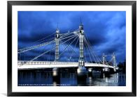 Albert bridge, London, Framed Mounted Print