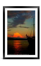 Lets sail away, Framed Mounted Print