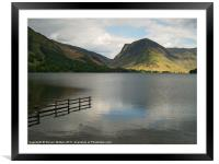 Buttermere and Fleetwith Pike., Framed Mounted Print