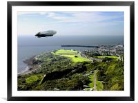 Airship over Folkestone, Framed Mounted Print
