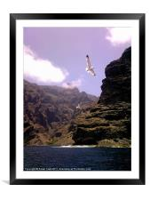 Flyby Mountain, Framed Mounted Print