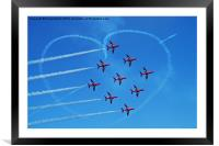red arrows love Heart, Framed Mounted Print