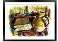 Early Colonial Still Life, Framed Mounted Print