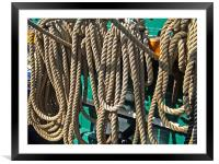 USS Constitution - Ropes for the Rigging, Framed Mounted Print