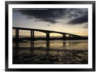 Orwell Bridge, Suffolk , Framed Mounted Print