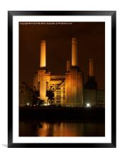 Battersea Power Station, London , Framed Mounted Print
