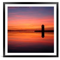 Brightlingsea, Essex, Sunset, Framed Mounted Print