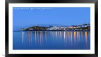 Tenby Harbour, Pembrokeshire, Wales, Framed Mounted Print