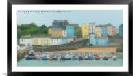 Tenby Harbour, Wales, Framed Mounted Print