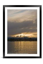 golden waters, Framed Mounted Print