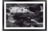Waterfall at Pen-y-Gwryd, Framed Mounted Print