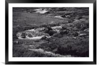 River at Pen-y-Gwryd in Snowdonia National Park, Framed Mounted Print