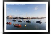 Weymouth Harbour early Morning, Framed Mounted Print