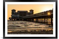 Weston Super Mare Pier at Sunset, Framed Mounted Print