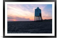 The Low Lighthouse Burnham on Sea, Framed Mounted Print