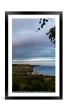 Sidmouth after the storm, Framed Mounted Print