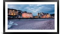 Evening in Sidmouth, Framed Mounted Print