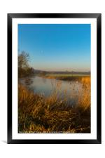River Stour in Winter, Framed Mounted Print